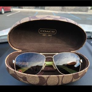 Polarized tortoise coach sunglasses